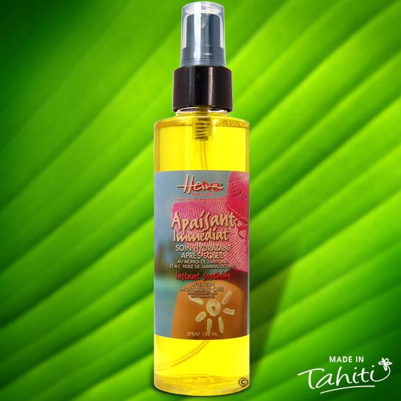 Cette huile de soin après solaire apaisante, pratique avec son spray, ultra légère pour les peaux délicates et très fines, pénètre rapidement la peau pour la satiner sans effet de gras résiduel. Ce Monoï Satin contient 50% de Monoï de Tahiti Appellation d