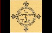 Le logo de la Savonnerie de Tahiti témoigne de la volonté de l'entreprise de se fondre dans l'univers polynésien