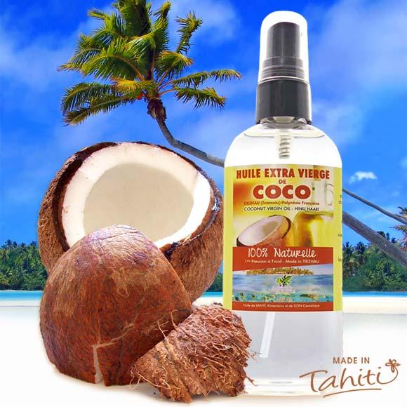 La Boutique du Monoï a sélectionné pour vous cette huile extra vierge de coco fabriqué à Tikehau (Archipel des Tuamotu) par le Comptoir des Plantes Polynésiennes.