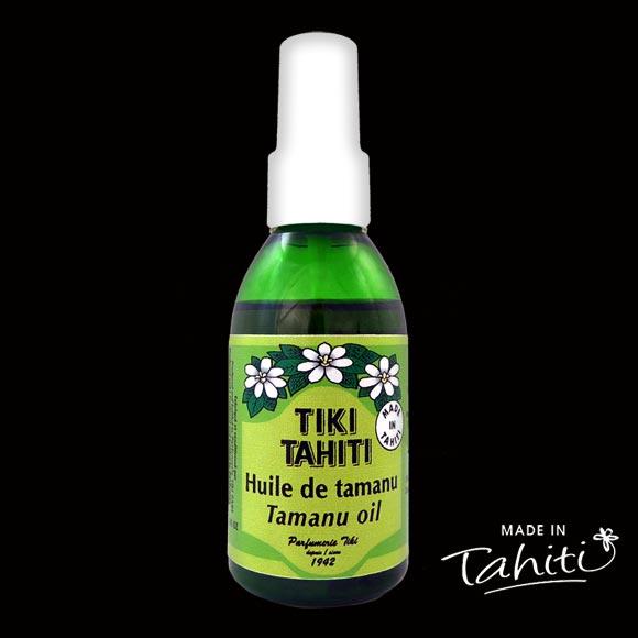 Tamanu 100 % naturelle provient des Îles Marquises : elle est conditionnée à Tahiti Faaa par La Parfumerie Tiki.