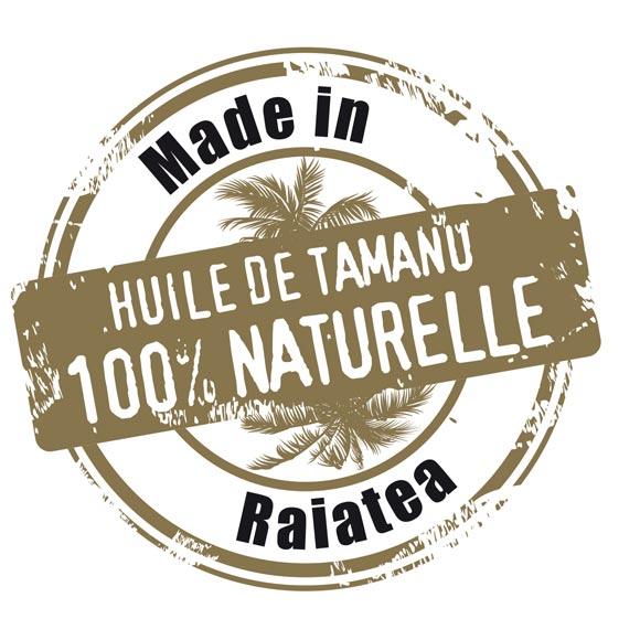 Huile de Tamanu Tahiti Made in Raiatea par Tahiti Oil Factory.