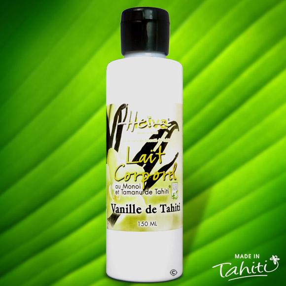 Ce lait corporel est enrichi de 2 % de Monoï de Tahiti Appellation d'Origine et d'extraits végétaux de Tahiti comme le célèbre Tamanu Tahiti ou Vanilla Tahitensis, la Vanille de Tahiti...