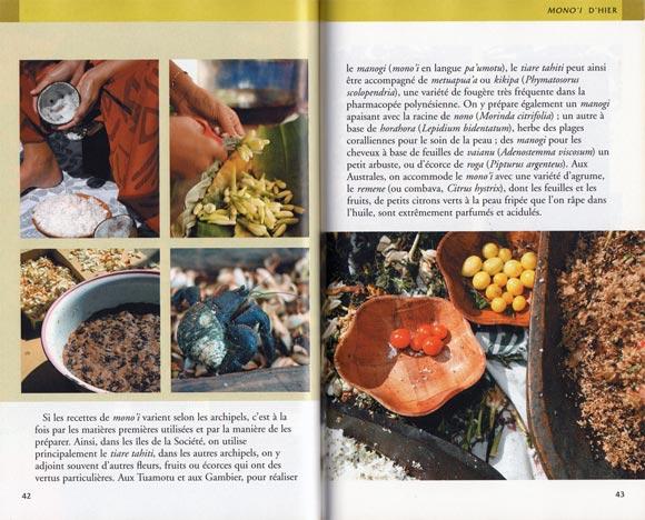 LE PETIT LIVRE DU MONOI DE TAHITI 80 PAGES INTÉRIEUR DOUBLE PAGE