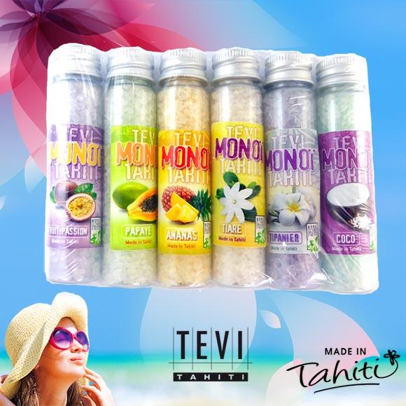 6 SELS DE BAIN TEVI TAHITI 6 PARFUMS POUR VARIER LES PLAISIRS DANS UN BAIN CHAUD