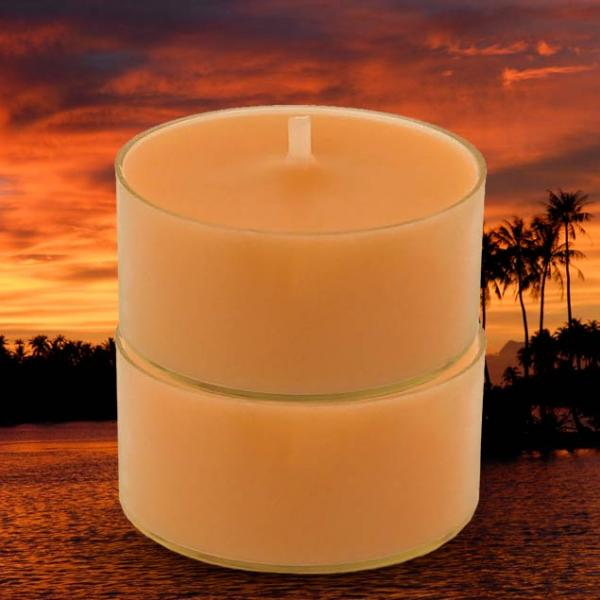 Mini Bougie au Monoi Ao Tahiti. Durée de combustion : 3 à 4 h par bougie...