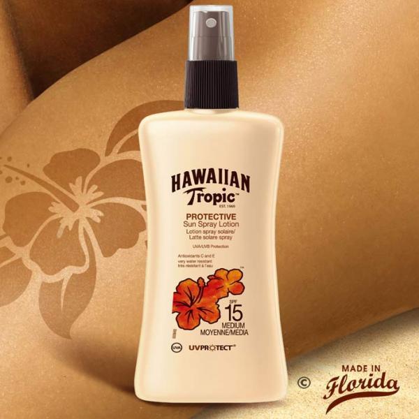 lotion satin 200ml hawaiian tropic spf 15 la boutique du monoi. Black Bedroom Furniture Sets. Home Design Ideas