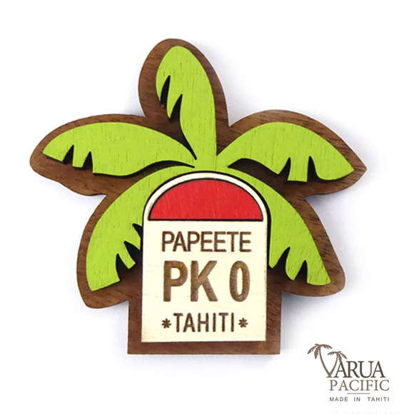 MAGNET BOIS PK0 PAPEETE TAHITI VARUA PACIFIC M19