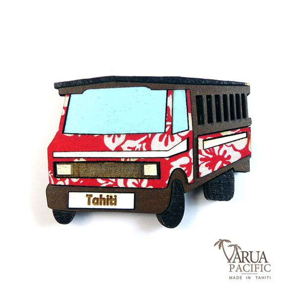MAGNET BOIS TRUCK TAHITI VARUA PACIFIC M11 BIS
