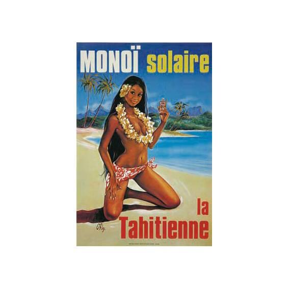Un petit clin d'oeil de la célèbre Tahitienne qui s'expose sur les flacons : une oeuvre de Pierre Oakley des années 70.