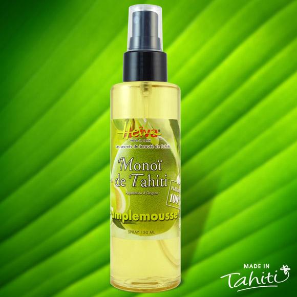 Ce Monoï 100% Naturel contient de l'huile essentielle de pamplemousse: idéal pour la détente après le stress, et pour positiver avant le sommeil.