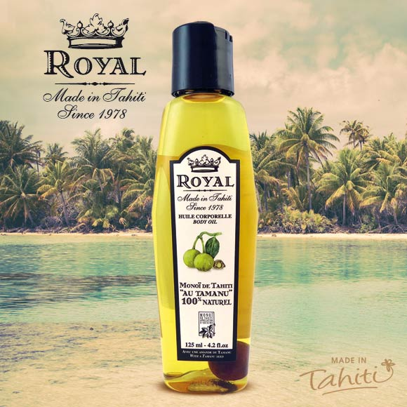MONOI ROYAL TAHITI 100% NATUREL À L'HUILE DE TAMANU 125mL
