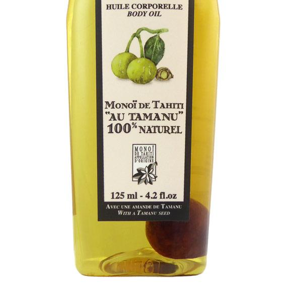 Une amande de Tamanu Tahiti a été ajoutée dans ce flacon, gage de l'authenticité de cette huile, par son Producteur Tahiti Oil Factory.