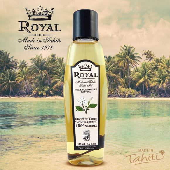 MONOI ROYAL TAHITI 100% NATUREL NON PARFUMÉ 125mL