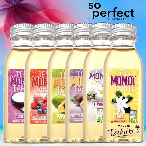 Collection de Monoi Tevi Tahiti Oil Factory