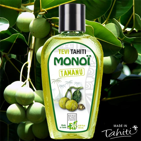 MONOI TEVI TAHITI 100% NATUREL A L'HUILE DE TAMANU 120ML