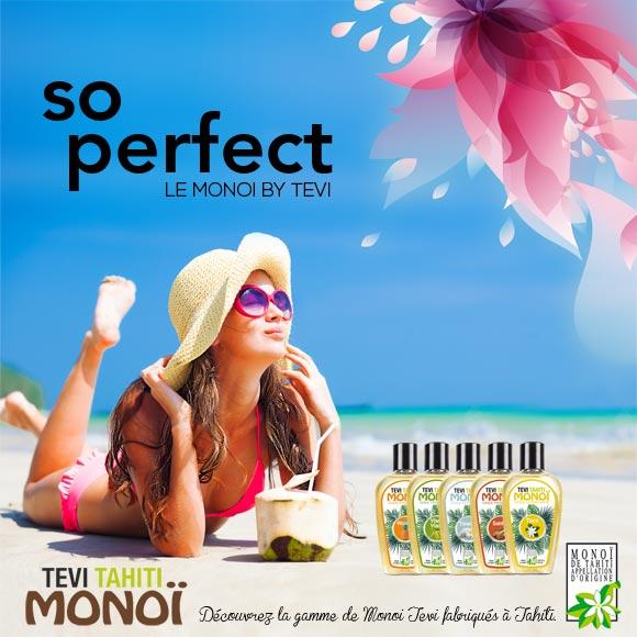 Découvrez la gamme Monoi Tevi Tahiti fabriquée par Tahiti Oil Factory.