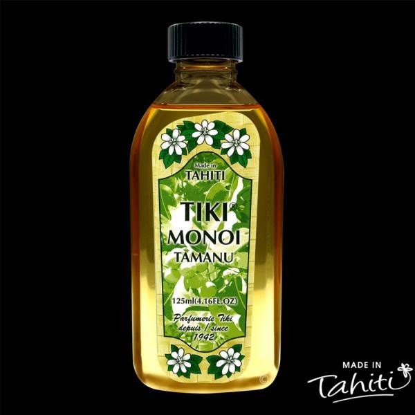Une véritable merveille thérapeuthique ! Ce Monoï Tiki Tahiti 120 ml enrichi à l'huile de Tamanu 100 % naturelle est fabriqué à Tahiti-Faaa par la Parfumerie Tiki.