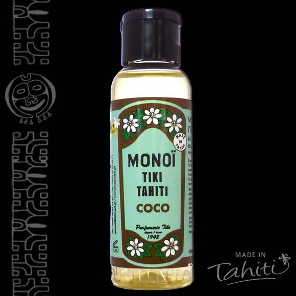 Un grand classique exotique ! Ce Monoï Tiki Tahiti 120 ml parfum Coco est fabriqué à Tahiti-Faaa par la Parfumerie Tiki depuis 1942.