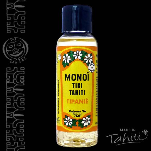 Un nouveau classique parmi les classiques disponible en 60ml ! Ce Monoï Tiki Tahiti 60 ml parfum Tipanie (Fleurs de Frangipanier) est fabriqué à Tahiti-Faaa par la Parfumerie Tiki depuis 1942.