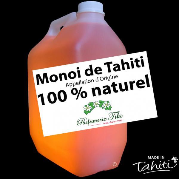Monoï de Tahiti Appellation d'Origine, 100 % naturel, sans additif. Idéal pour pour ses formulations et produits cosmétiques.