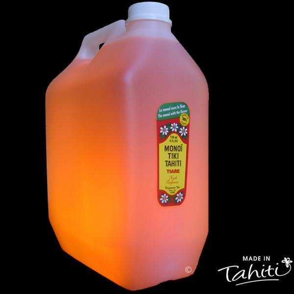 Un classique parmi les classiques ! Ce Monoï Tiki Tahiti en bidon de 5 Litres parfum Tiaré est fabriqué à Tahiti-Faaa par la Parfumerie Tiki depuis 1942. Pour les gros utilisateurs et les professionnels.