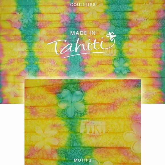 PAREO TAHITI DU MARCHÉ DE PAPEETE VOILE DE COTON B1