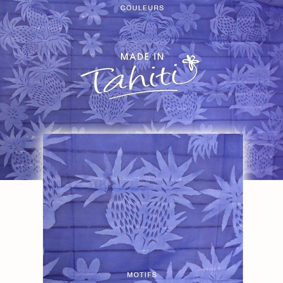 PAREO TAHITI DU MARCHÉ DE PAPEETE VOILE DE COTON B15