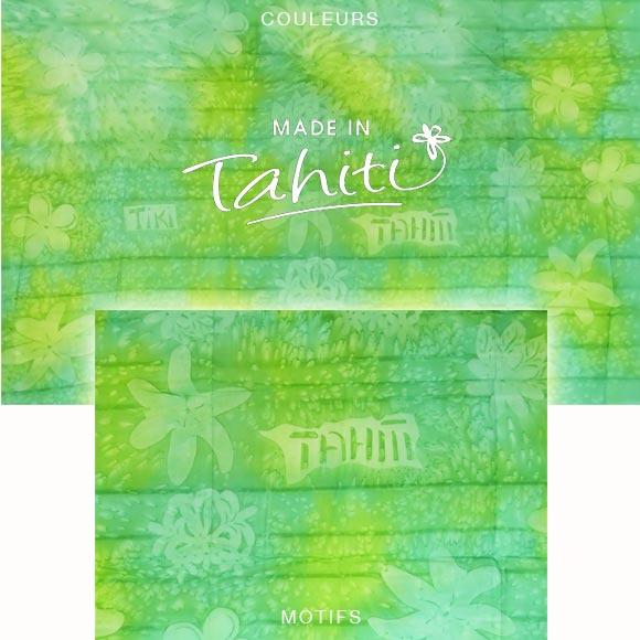 PAREO TAHITI DU MARCHÉ DE PAPEETE VOILE DE COTON B17