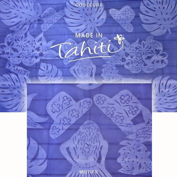 PAREO TAHITI DU MARCHÉ DE PAPEETE VOILE DE COTON B20