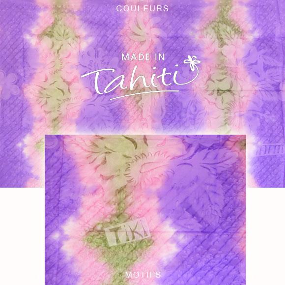 PAREO TAHITI DU MARCHÉ DE PAPEETE VOILE DE COTON B36