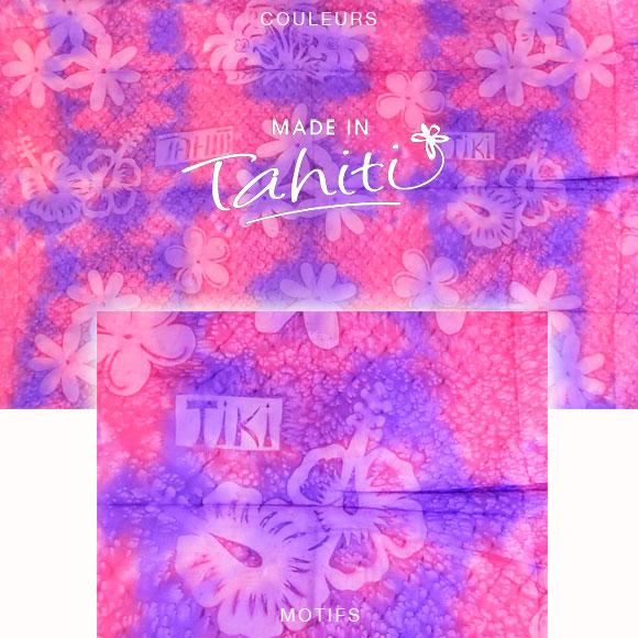 PAREO TAHITI DU MARCHÉ DE PAPEETE VOILE DE COTON B41