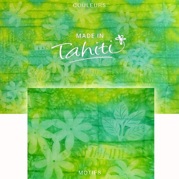 PAREO TAHITI DU MARCHÉ DE PAPEETE VOILE DE COTON B43