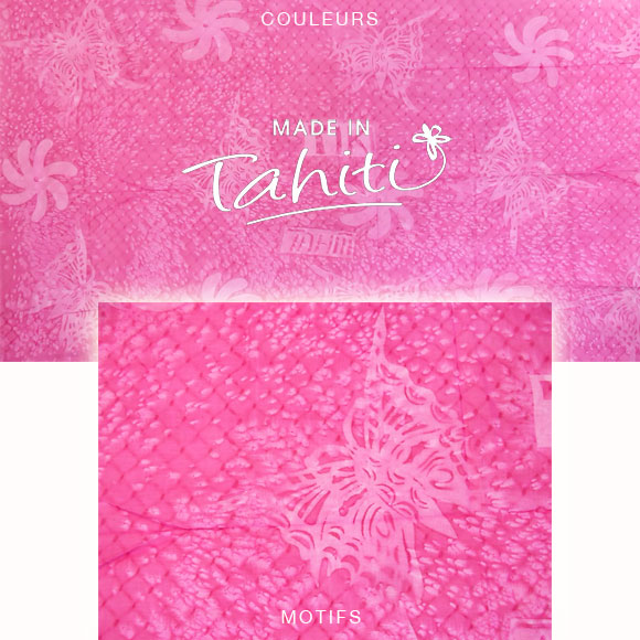 PAREO TAHITI DU MARCHÉ DE PAPEETE VOILE DE COTON B46