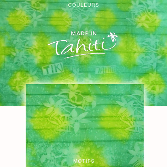 PAREO TAHITI DU MARCHÉ DE PAPEETE VOILE DE COTON B47