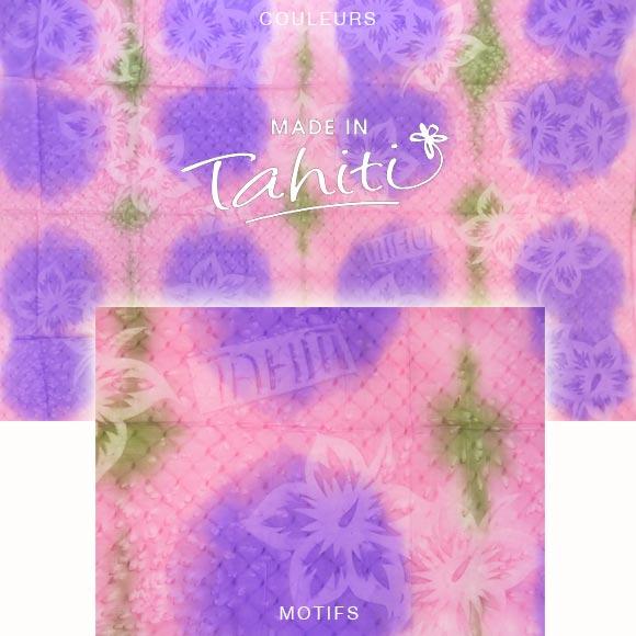 PAREO TAHITI DU MARCHÉ DE PAPEETE VOILE DE COTON B6
