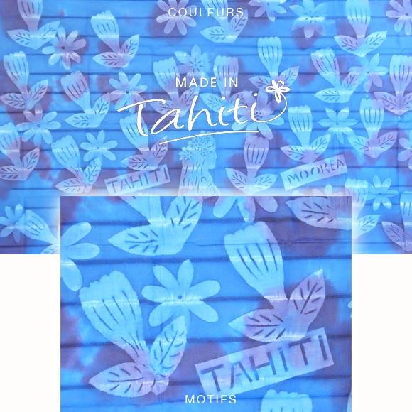 PAREO TAHITI DU MARCHÉ DE PAPEETE VOILE DE COTON C11