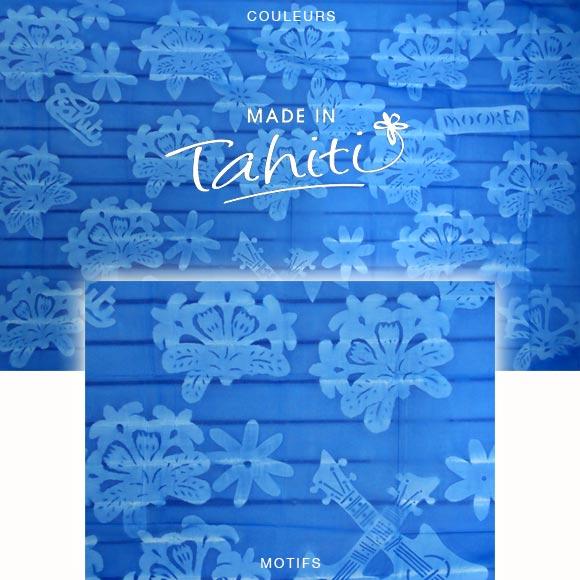 PAREO TAHITI DU MARCHÉ DE PAPEETE VOILE DE COTON K21