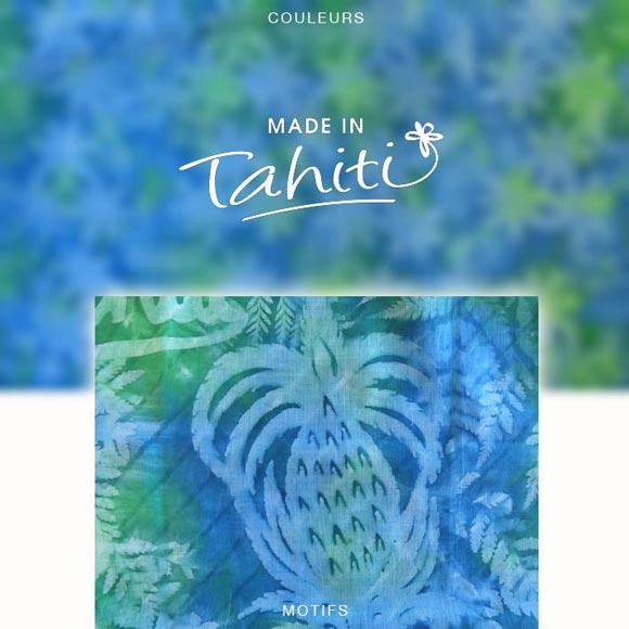 PAREO TAHITI DU MARCHÉ DE PAPEETE VOILE DE COTON PB6