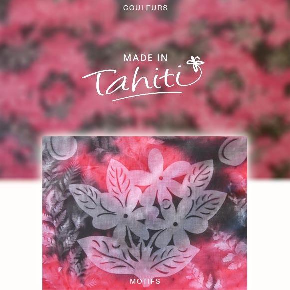 PAREO TAHITI DU MARCHÉ DE PAPEETE VOILE DE COTON PD4