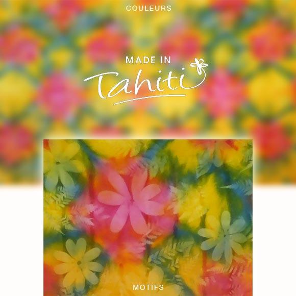 PAREO TAHITI DU MARCHÉ DE PAPEETE VOILE DE COTON PF1