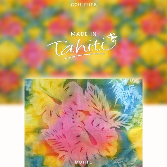 PAREO TAHITI DU MARCHÉ DE PAPEETE VOILE DE COTON PF5