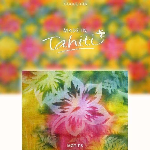 PAREO TAHITI DU MARCHÉ DE PAPEETE VOILE DE COTON PF6