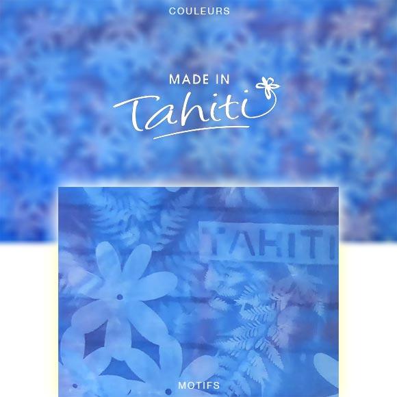 PAREO TAHITI DU MARCHÉ DE PAPEETE VOILE DE COTON PJ1