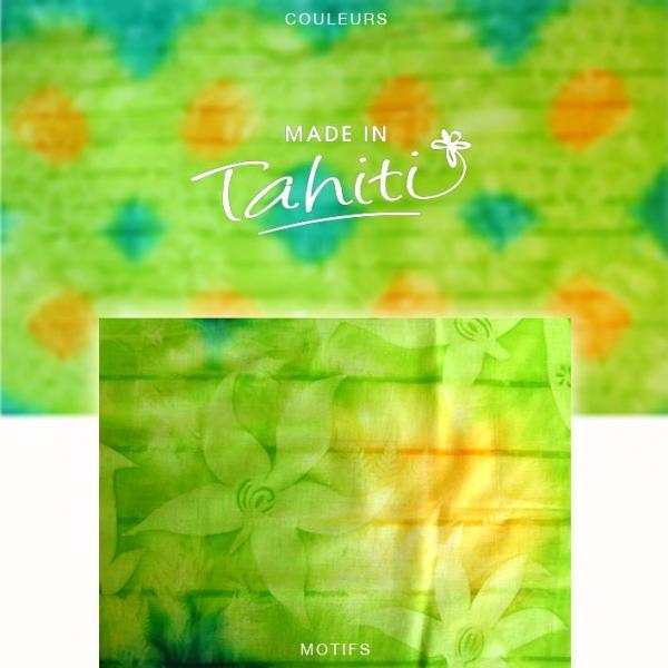 PAREO TAHITI DU MARCHÉ DE PAPEETE VOILE DE COTON PL9