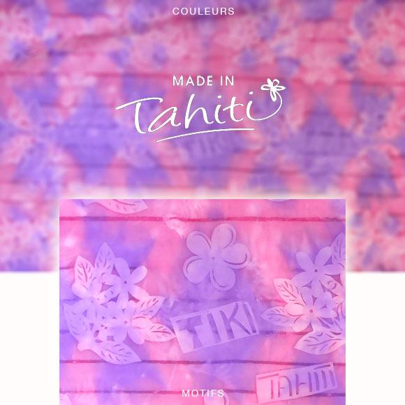 PAREO TAHITI DU MARCHÉ DE PAPEETE VOILE DE COTON PM4
