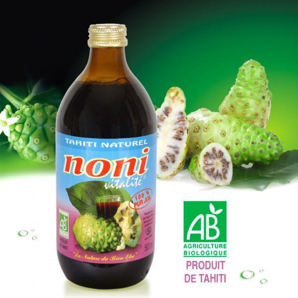 Ce jus de Noni Bio Tahiti Naturel, pur et sans ajout, a été choisi pour l'excellence de sa fabrication à Moorea, permettant de vous garantir un vrai jus de Noni, et ainsi d'en préserver tous les bienfaits de ce fruit pour votre organisme.