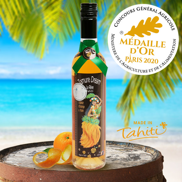 RHUM TAMURE DREAM 45° A LA LIQUEUR D'ORANGE 50 CL