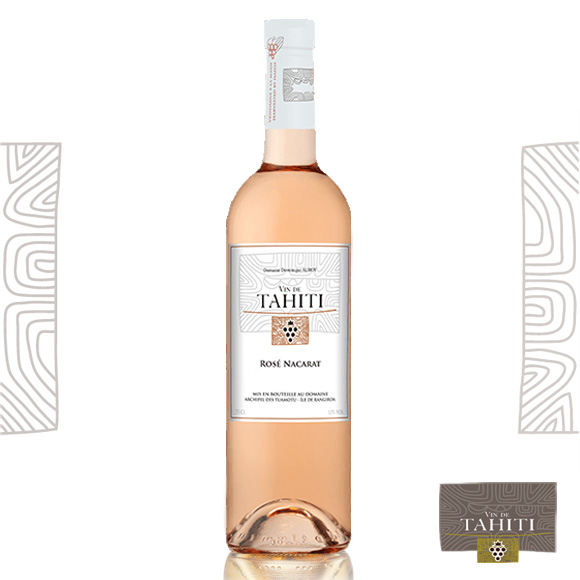 Vin Rosé Nacarat. Vin de Tahiti du Domaine de Dominique Auroy.