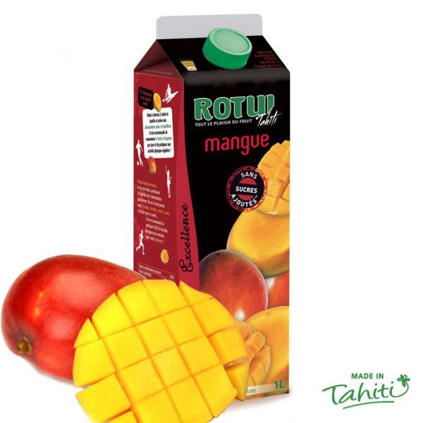 Ancien nectar de Mangue Bio gorgé de soleil ! La mangue est un fruit généreux pour les papilles. Sa chair orange et juteuse se conjugue avec douceur et onctuosité dans ce nectar rare venu de Moorea, l'ile soeur de Tahiti. Servir frais.