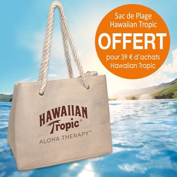 SAC DE PLAGE OFFERT POUR 39 € D'ACHATS HAWAIIAN TROPIC*